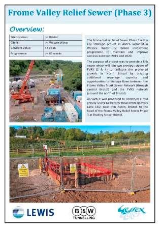Frome Valley Relief Sewer (Phase 3)