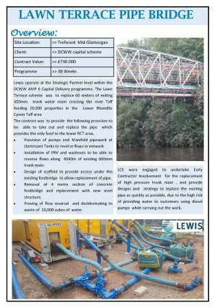 Lawn Terrace Pipe Bridge Replacement