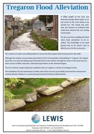 Tregaron Flood Alleviation