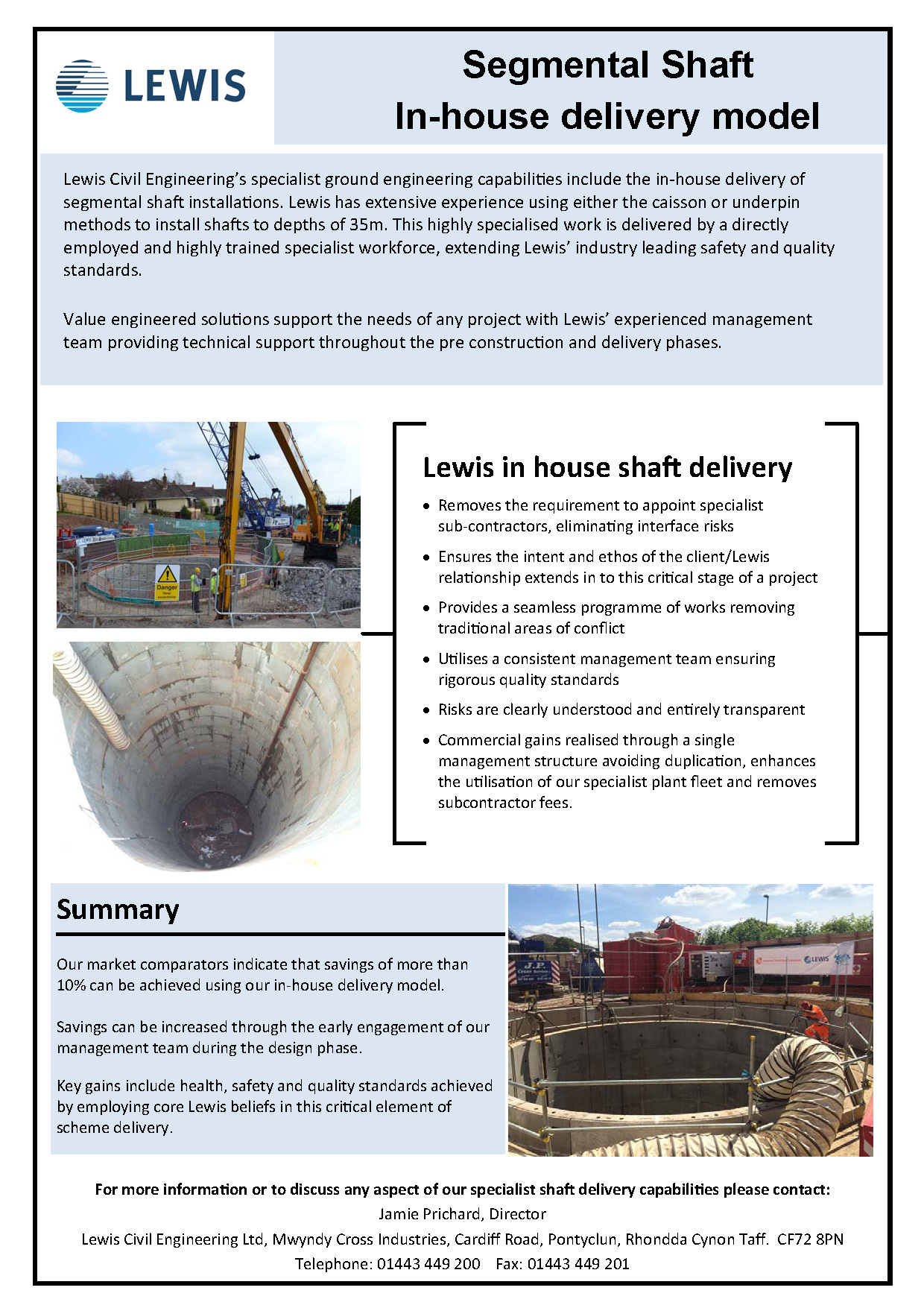 Lewis Inhouse Shaft Delivery Model