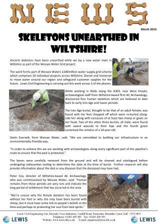 Skeletons unearthed in Wiltshire!