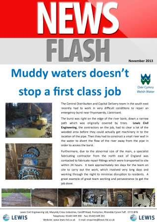 Muddy waters doesn't stop a first class job